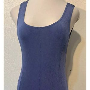 CHICOS TRAVELERS Blue Stretch Seamed Maxi Dress